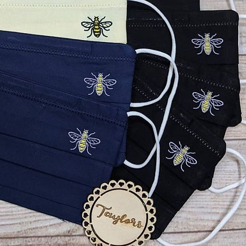Embroidered Manchester Bee 🐝 face Covering