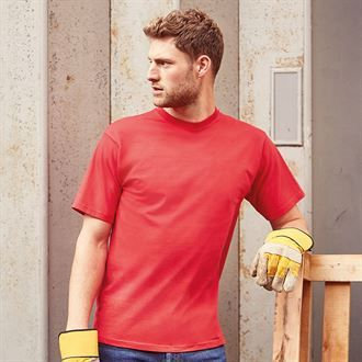 Russell Classic heavyweight ringspun t-shirt with logo on left chest