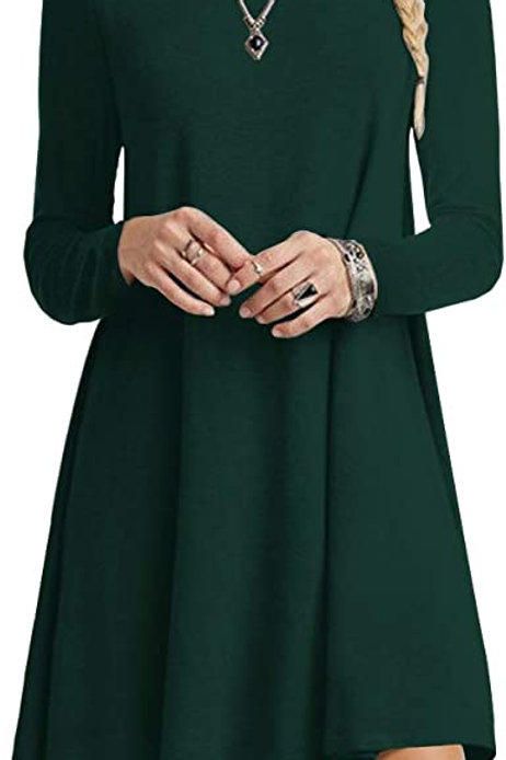 Long Sleeve Tunic Dress - New Hampshire Forest