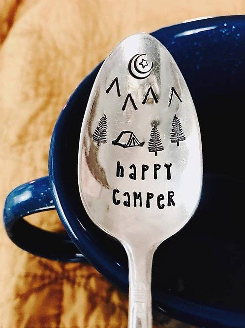 HAPPY CAMPER- Engraved Spoon