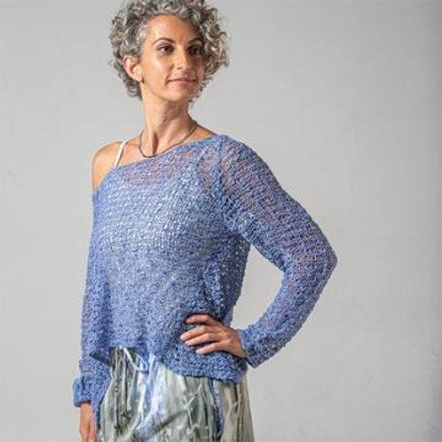Crocheted Long Sleeve Soul Warmer-AMETHYST