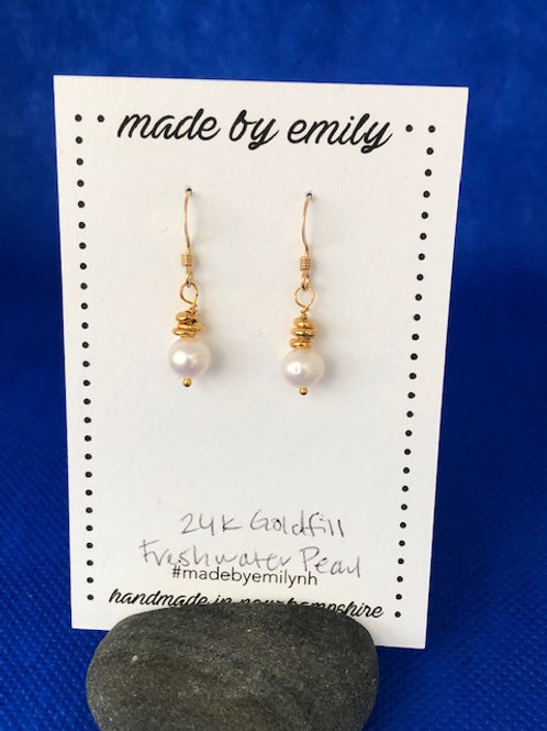 Goldfill Freshwater Pearl Drops