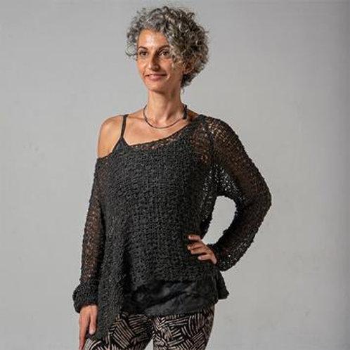 Crocheted Long Sleeve Soul Warmer-BLACK