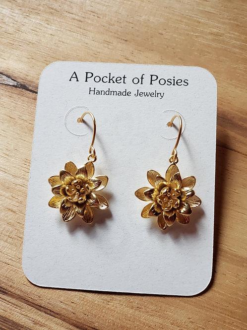 Lotus Flower Gold EAR-FD-106