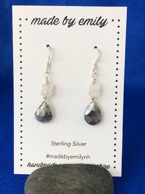Mystic Labradorite & Moonstone Drops