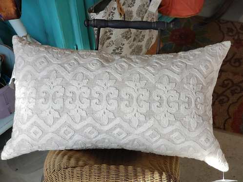 Large Lumbar Pillow with Down Insert-Cream
