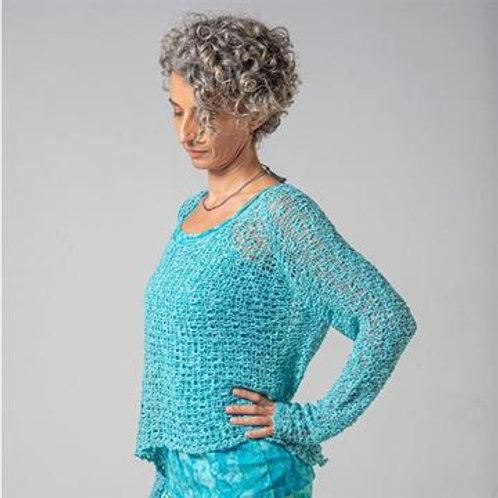Crocheted Long Sleeve Soul Warmer-OCEAN