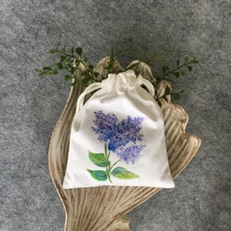 DRAWSTRING LAVENDER SACHET - Lilac