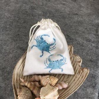 DRAWSTRING LAVENDER SACHET - Blue Crab