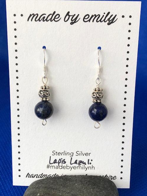 Lapislazuli & Silver Beads