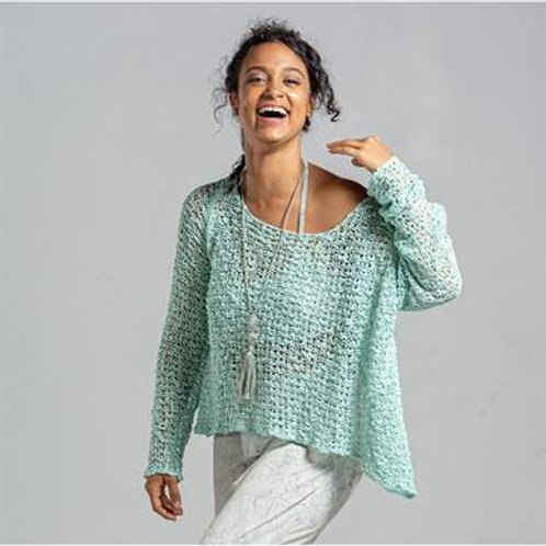 Crocheted Long Sleeve Soul Warmer-Mint