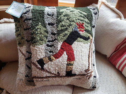 X-Country Hooked Wool Pillow