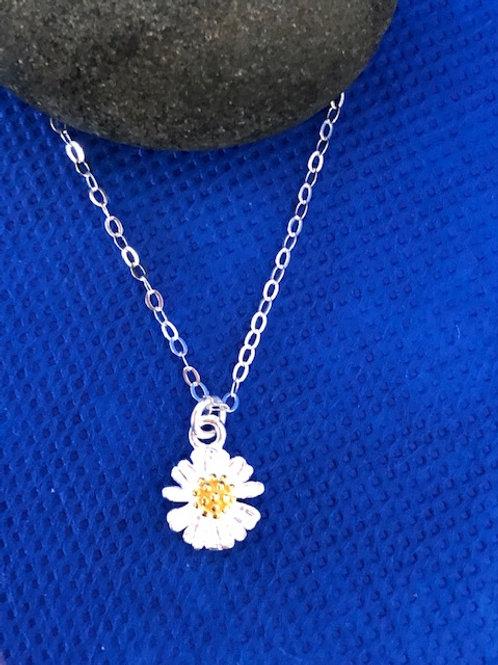 Silver & Gold Daisy Pendant