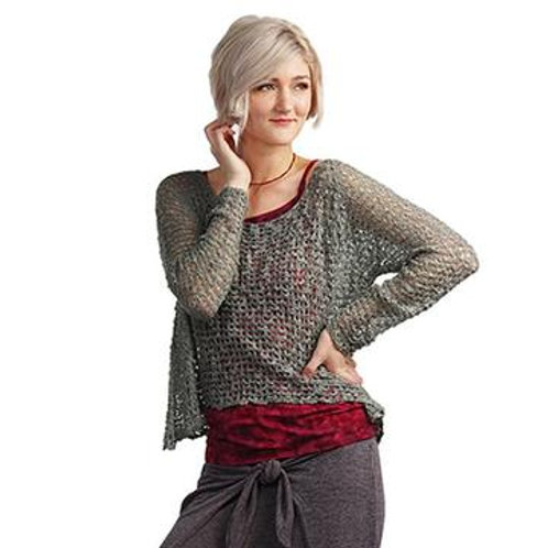 Crocheted Long Sleeve Soul Warmer-SLATE