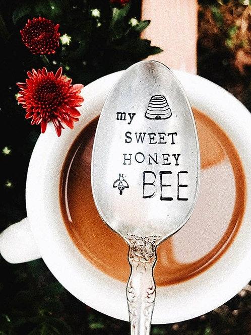 MY SWEET HONEY BEE- Engraved Spoon