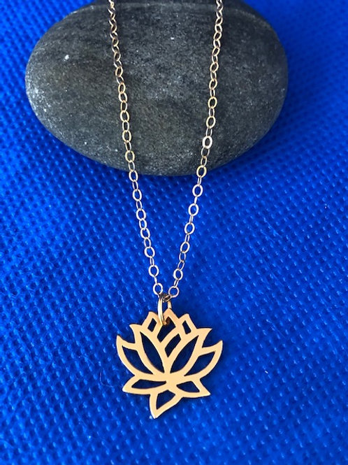 Goldfill Lotus Pendant