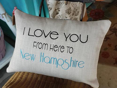 I Love You Lumbar Pillow