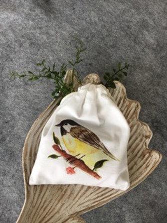 DRAWSTRING LAVENDER SACHET - Chickadee