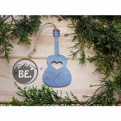 Acoustic Guitar Metal Ornament w/ Heart