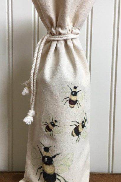 Wine Tote - Bees