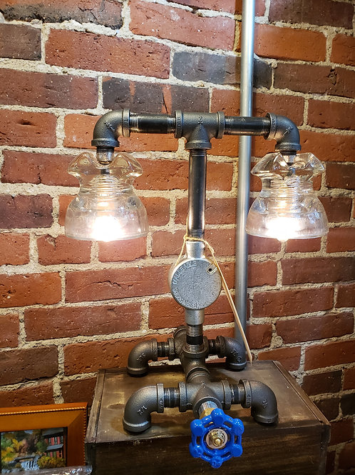 Clear Glass Insulator Industrial Lamp