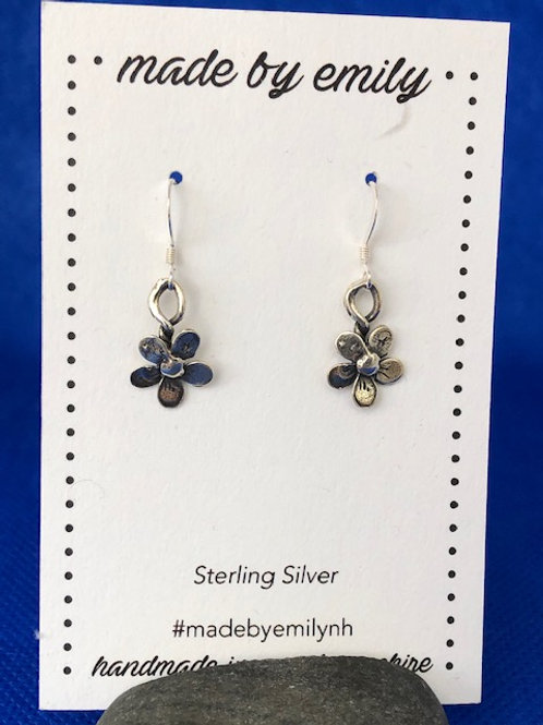 Sterling Silver Flower Dangles