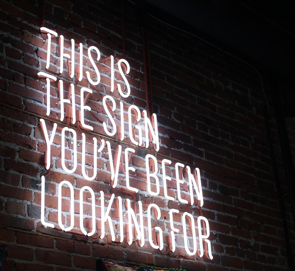 Zeichen für Erfolg