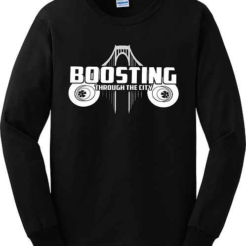 Boosting Through The City Long Sleeve Shirt
