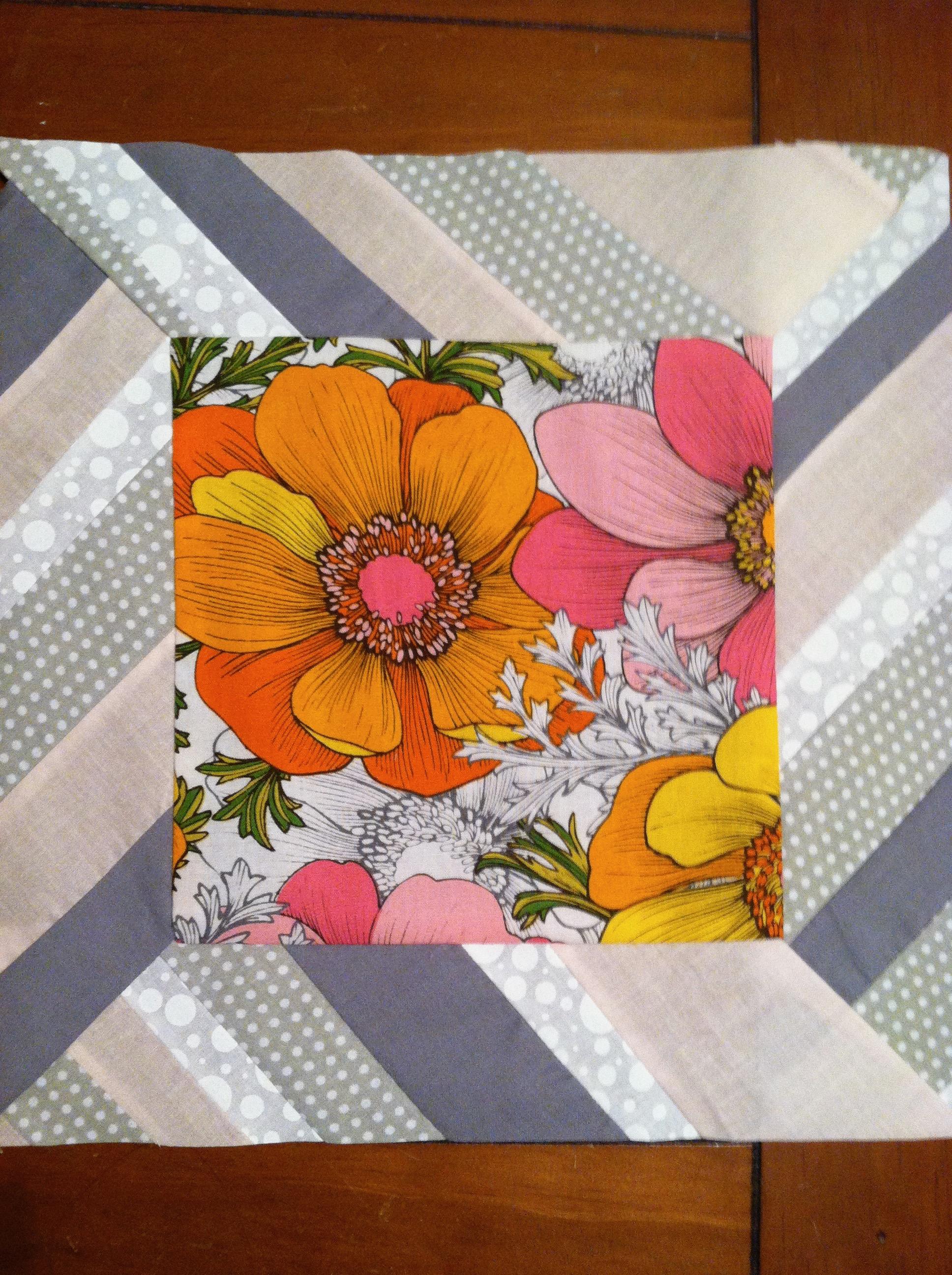 Floral Quilt Square