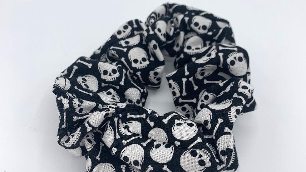 Large Skulls and Bones Scrunchie