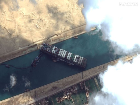 How long will global trade be affected by the Suez Canal blockage?