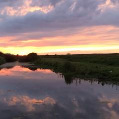 Salthouse sunset