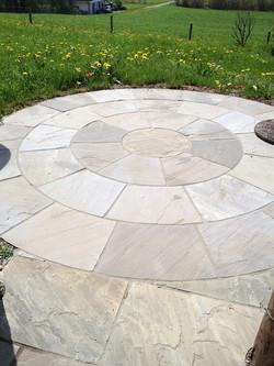 Kreisförmiger Sitzplatz