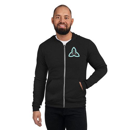 Unisex logo zip lightweight hoodie