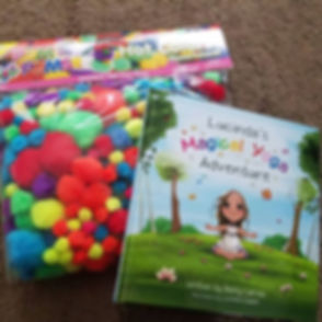 The arrived!  All ready for Mommy & Me Tea Time & K thru 2nd grade at _pearlyogafitness on Tuesday!