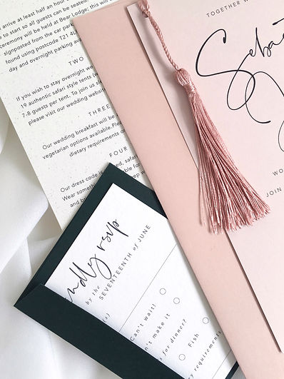 Modern Luxury Invitation Tassel Blush Pi