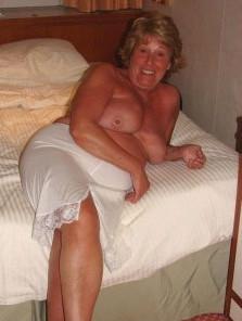 Breasts of hot granny