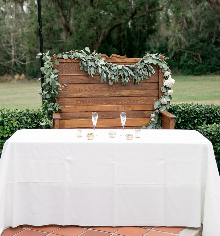 Sweetheart table greenery