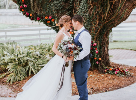 A Romantic Fall Wedding at the Highland Manor