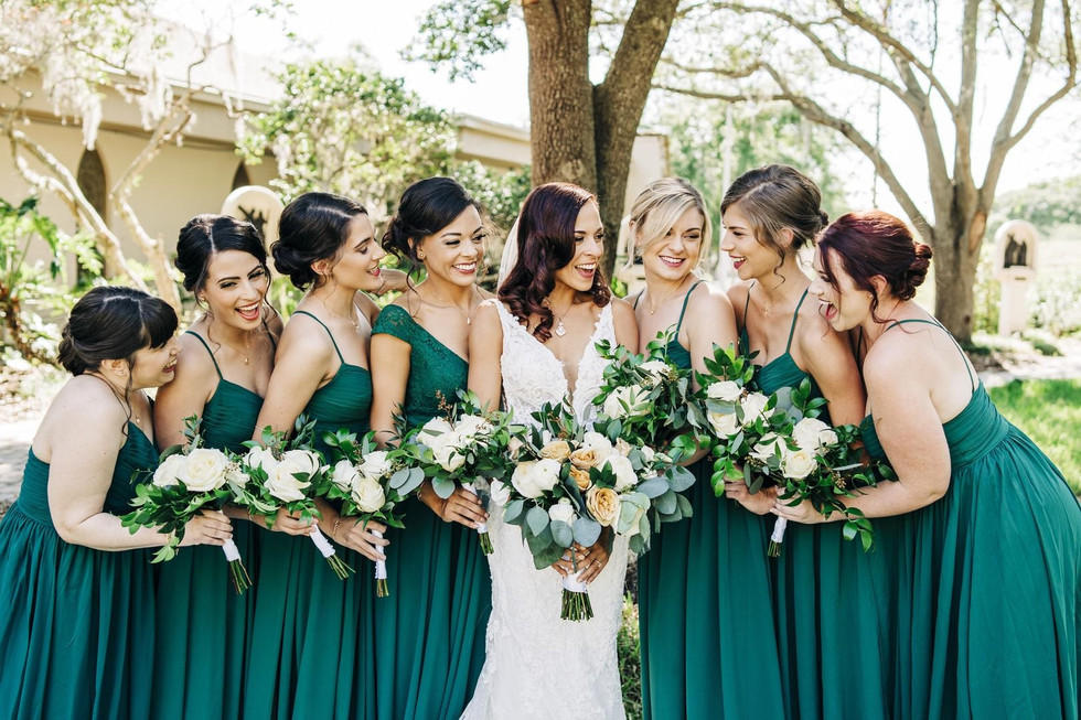 Green Gold and White Wedding Le Fleur Atelier