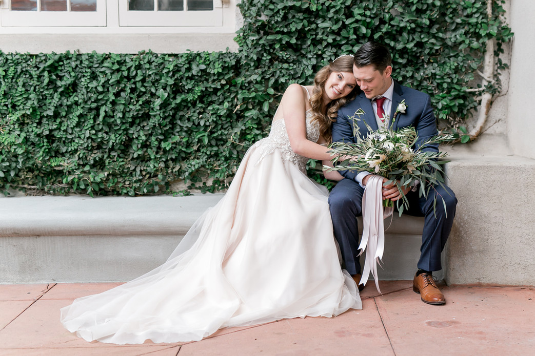 Romantic blush and white weddng