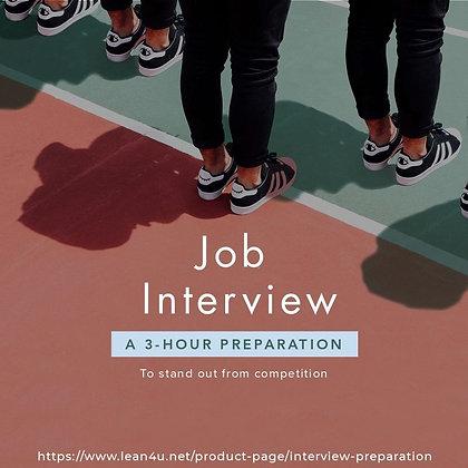 Job Interview: A 3-hour Preparation