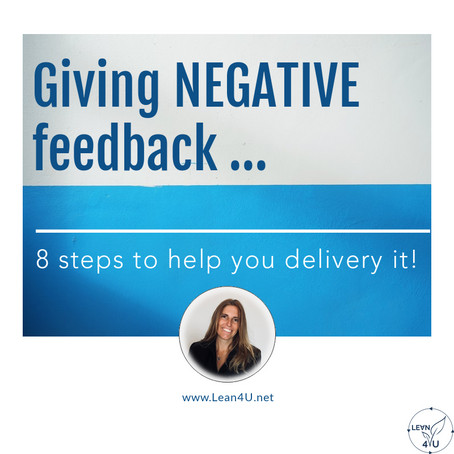 Giving negative feedback positively