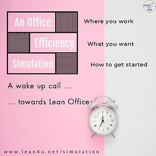 Lean Office simulation