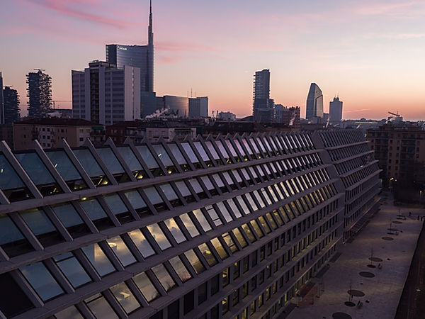 Milan downtown with our drone