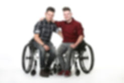 Zwillinge Marcus & Max Laudan Rolltuhl Freeletics Rolluhltennis Athletes