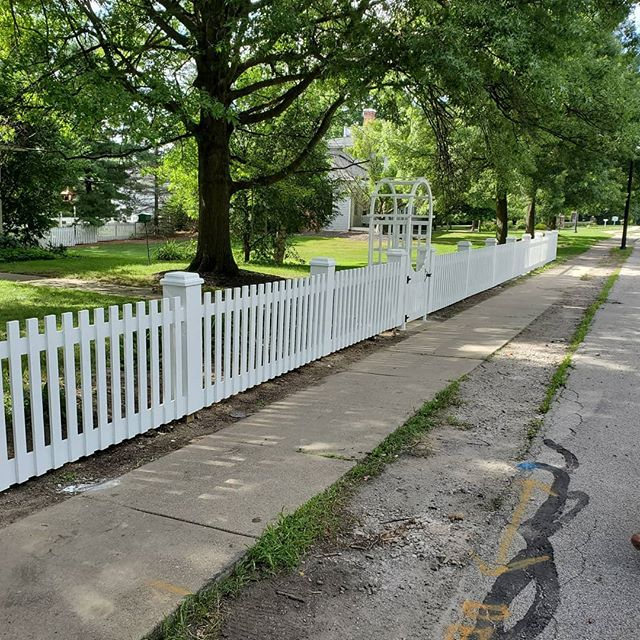 Custom cedar fence in the historic Distr