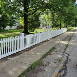 Custom cedar fence in the historic Distr