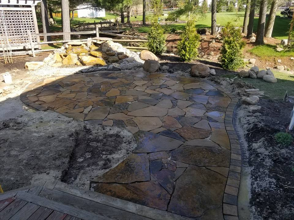 Maryland Flagstone patio