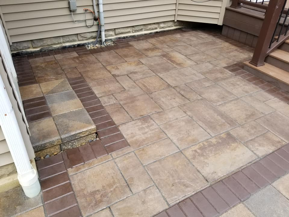 Paver Patio Transition